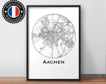 Poster Aachen Germany Deutschland Minimalist Map - City Map, Street Map