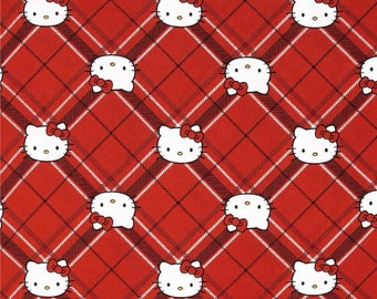 patchwork fabric child's cat, white node Red