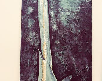 Xray painting, Modern art, dark painting, black painting, modern painting, Christmas gift, gift for doctor, Xray Art, X-ray painting