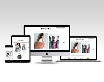 Web design and Shopping card Facebook - Leather bags women - Custom Website Design eCommerce
