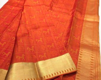 Pure silk handloom kanjivaram saree,