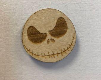 Nightmare Before Christmas Fridge Magnet - Jack Skellington Magnet - Wooden Magnet - Jack Skellington - Wood - Magnet