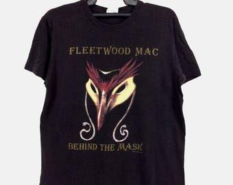 RARE!! Vintage Fleetwood Mac 1990 Behind The Mask Rock  Band Shirt Concert tee Alternative Metal Heavy Metal Grunge Band Tees Made In USA