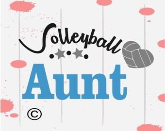 Volleyball svg, Volleyball Aunt svg, Volleyball shirt, SVG Files, Cricut, Cameo, Cut file, Files, Clipart, Svg, DXF, Png, Pdf, Eps