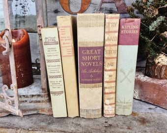 Old Books - Rudyard Kipling & Other Pretty Brown Books
