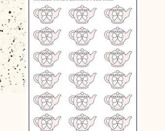BOW TEAPOTS | Planner Stickers | Premium Matte Paper