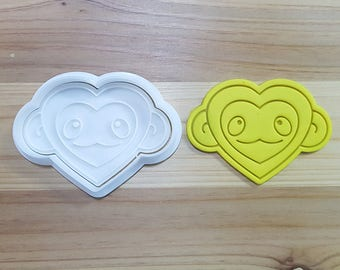 Monkey Heart Cookie Cutter and Stamp