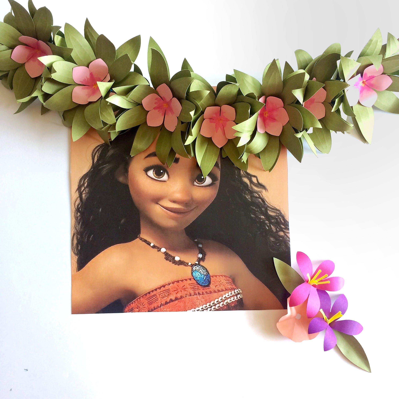 Flower crown tropical flower crown luau hawaiian flower crown flower crown tropical flower crown luau hawaiian flower crown paper flowers izmirmasajfo
