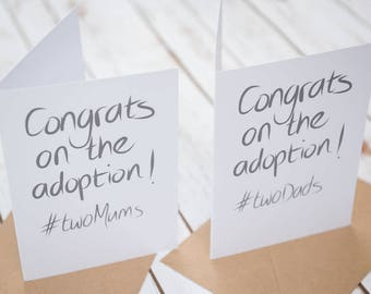 Same sex adoption card