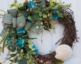 Seashell Beach Wreath