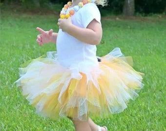 Candy corn tutu outfit
