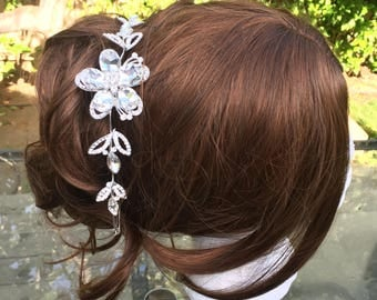 Bride hair vine, Wedding hair vine, Bride crystal headpiece, Wedding hair comb