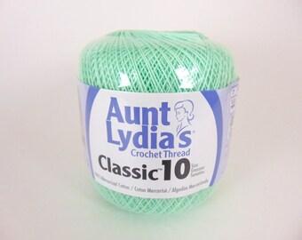 Mint green Aunt Lydia's Crochet Cotton Classic Size 10