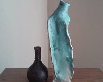 Turquoise Slab Bottle/Vase