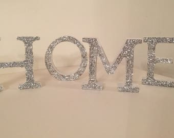 Freestanding White Home Letters