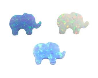 Opal Elephant Charm 8x11mm, Elephant Pendant, Elephant Charm, DIY Elephant Pendant. SALE