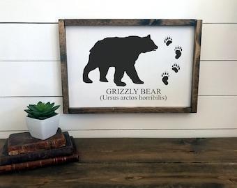 Woodland Nursery Decor   Wall Art   Childrens Room Decor    Lodge Decor   Bear Sign   Nursery Sign   Rustic Sign Decor