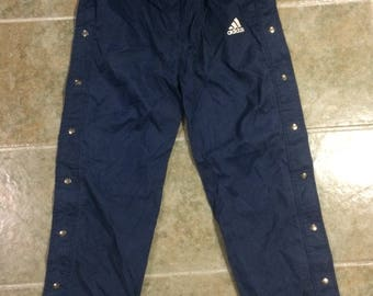 Vintage Adidas Tear-Away Pants With Pockets Small
