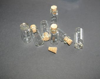 x 24 large vials glass 28 * 12 * 06 capacity: 1.4 ml with pitons screw