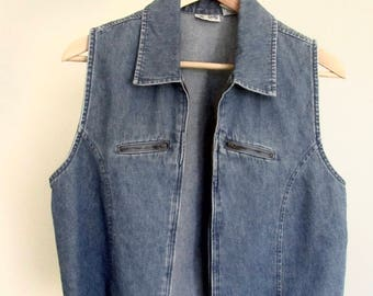 lightweight denim vest |VINTAGE|