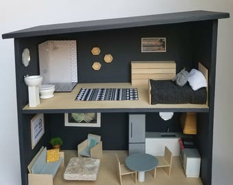 Modern Magnetic Doll House with Furnishings