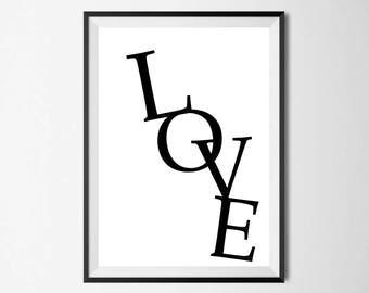 Love Wall Print - Home Decor, Home Print, Love Print