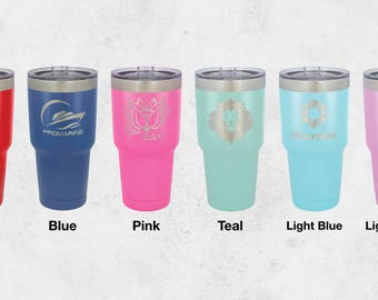 Custom 30 oz Tumbler, Personalized 30 oz Tumbler, Engraved 30 oz Tumbler