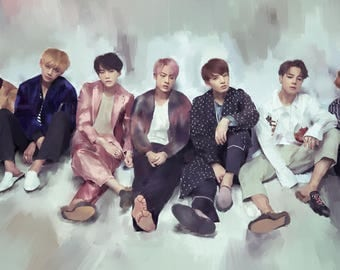 BTS Blood sweat and tears drawing