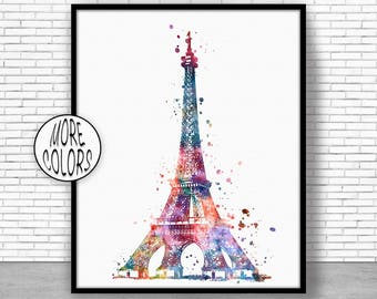 Eiffel Tower Print Eiffel tower art Eiffel Tower Decor paris art paris print Watercolor Decor paris wall art ArtPrintZoneGift for Women