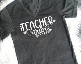 Teacher Tribe Shirt - Teacher Shirts - Teacher Shirts V Neck - Teacher Gifts - Teacher Shirts Back to School - Teacher Tribe Tee - TShirt