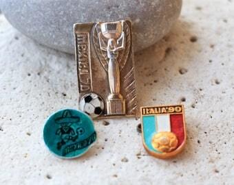 Antique Sports pins Sport Brooch pin Mexico pin World Cup pin 1970 pin Italy 1990 gift pin Retro pins Unique pins Gold pin Soccer gifts pins