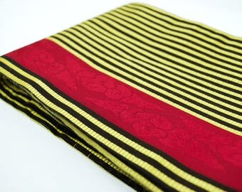 Vintage Silk Hanhaba Obi - Women's Clothing/obi/obi belt/Japanese obi/kimono robe/obi tie/hanhaba obi/silk kimono/sash/robe tie/table runner