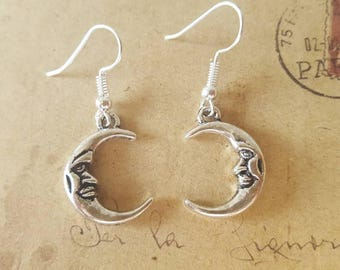 Moon Earrings ~ Silver Colors ~