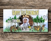Where The Wild Things Are Birthday Photo Backdrop Banner Personalized Customized Instant Download Printable Party Decor Boy Girl Max Crown