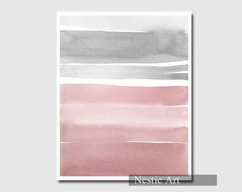 Pink and Gray  Gradation / Abstract Printable
