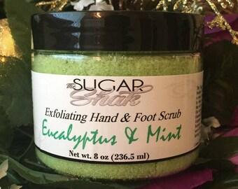 Eucalyptus And Mint Hand & Foot Sugar Scrub / Handmade FREE SHIPPING (US)