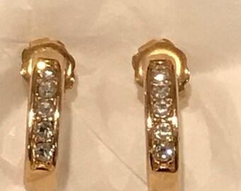 80's Avon Gold Tone Earrings