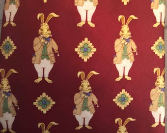 Peter Rabbit White Rabbit Red Silk Tie by St. Loren