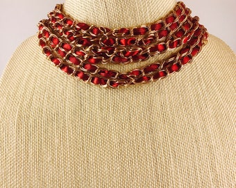 Ruby Satin Statement necklace