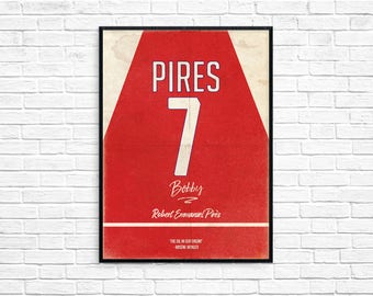 Robert Pires Arsenal Legend Invincible Print Picture Art Poster Retro Style Print
