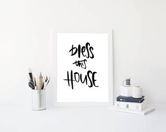 Bless This House A4 Print