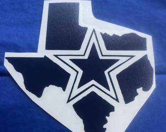 Dallas Cowboy decal.