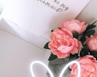 Bridesmaid proposal box - will you be my bridesmaid - wedding gift box - personalised name gift box