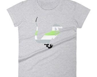 Agender Pride Raptor Women's short sleeve t-shirt lgbt lgbtqipa lgbtq mogai pride flag