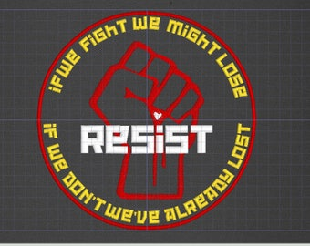 If We Don't Fight We've Already Lost Resist Back patch resistance queer revolution LGBT LGBTQ
