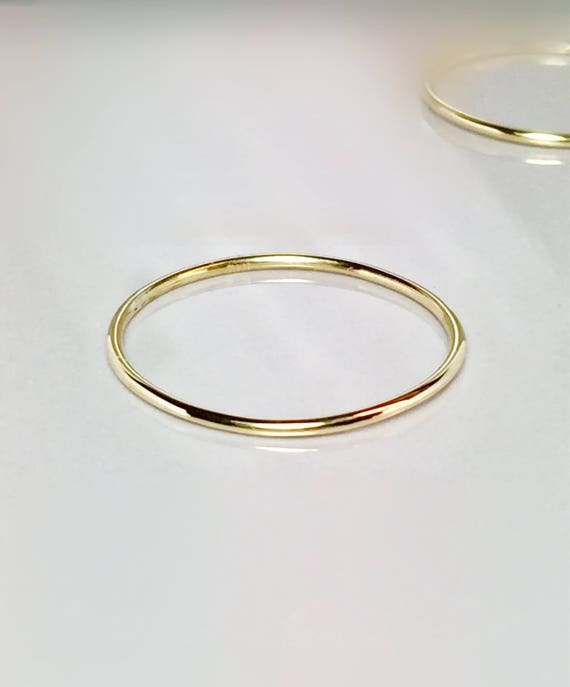 SALE 14k solid gold La s Delicate ring 14k gold midi rings