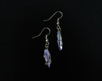 wrapped amethyst earrings