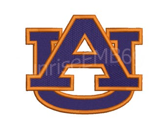 9 Sizes**Auburn Tigers Embroidery design- 8 formats machine embroidery design - Instant Download machine embroidery pattern