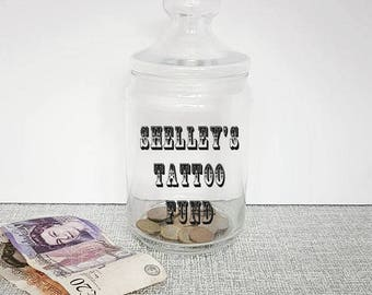 how to make a tattoo money jar