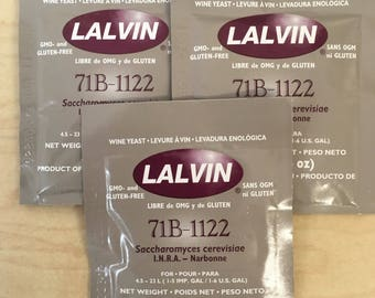 Three-Pack of 71B-1122 Wine Yeast by Lalvin